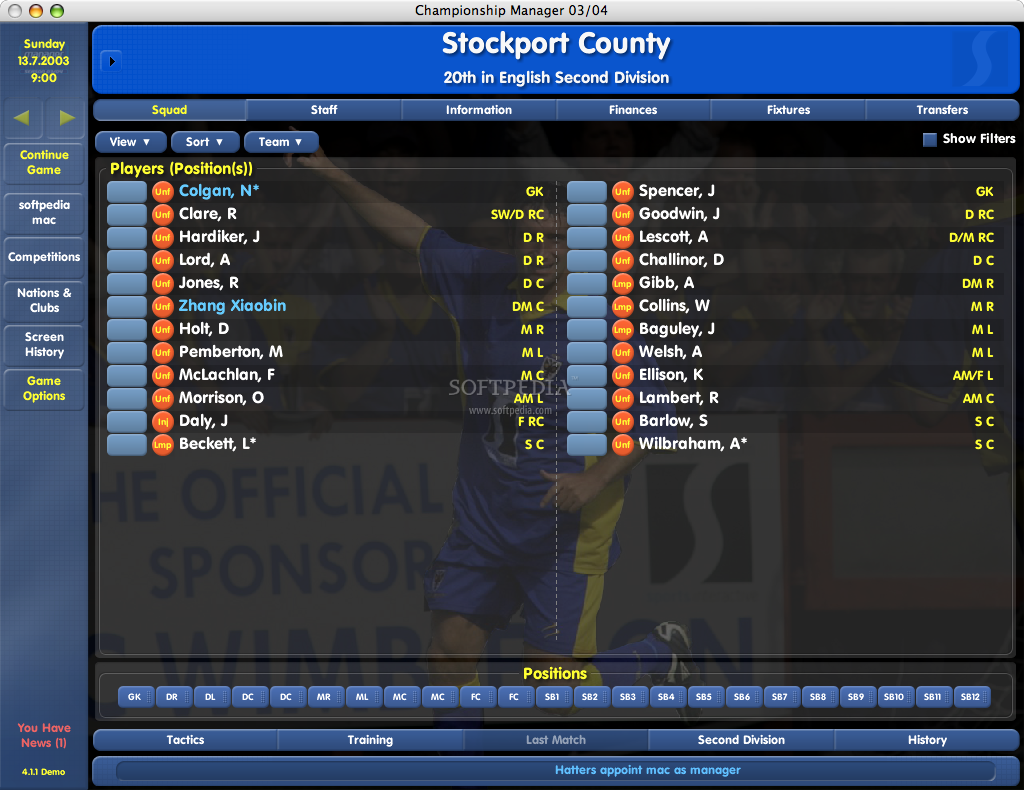 Championship Manager Season 03/04 for PC - GameFAQs